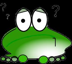 une grenouille qui s'interroge