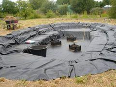 les étapes de la construction d'un bassin
